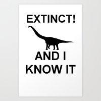 Extinct Brachiosaurus Art Print