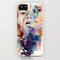 iPhone Cases featuring this thing called art is really dangerous by agnes-cecile