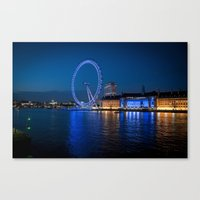 London Eye at night Canvas Print