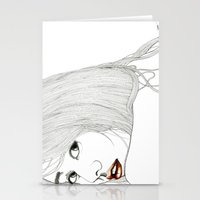 Curiously distant Stationery Cards