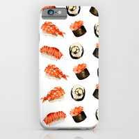 iPhone Cases featuring Sushi by Jenny Viljaniemi