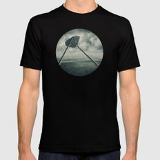 Go fly a kite Mens Fitted Tee Black SMALL