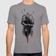 Dark Souls Mens Fitted Tee Tri-Grey SMALL