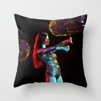 Rainbow Spell Throw Pillow