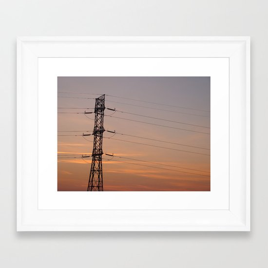 Letting the Cables Sleep Framed Art Print