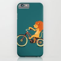 iPhone & iPod Case featuring Lion on the bike by Tatiana Obukhovich