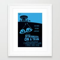 ALFRED HITCHCOCK'S STRANGERS ON A TRAIN Framed Art Print