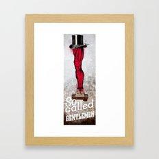 gentlemen Framed Art Print