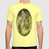 Nude In Yellow Mens Fitted Tee Lemon SMALL
