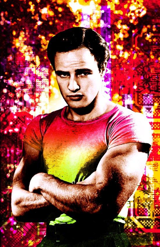 Marlon Brando, Color source 2 Art Print