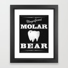 Molar Bear (Gentlemen's Edition) Framed Art Print