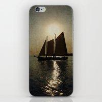 Sailing at twilight iPhone & iPod Skin