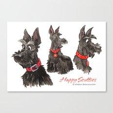 Happy scotties Canvas Print