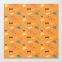 Hipster Pattern Canvas Print