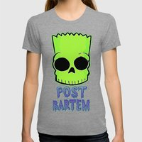 Post Bartem Womens Fitted Tee Tri-Grey SMALL