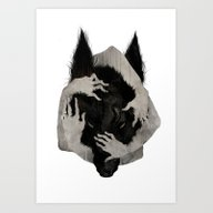 Art Print featuring Wild Dog by Corinne Reid