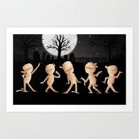 Dancing Mummies Art Print