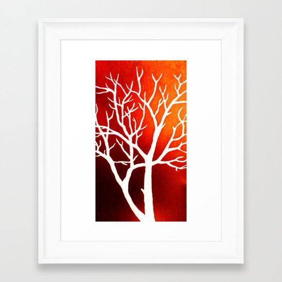 BLAZING TREES Framed Art Print