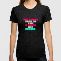 Don't mess with I am a smart device! Womens Fitted Tee Tri-Black SMALL