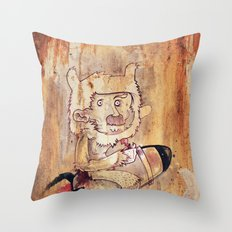 Bunny Rocket Throw Pillow