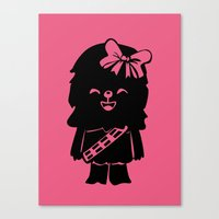 Baby Girl Wookie in Pink Graphic Canvas Print