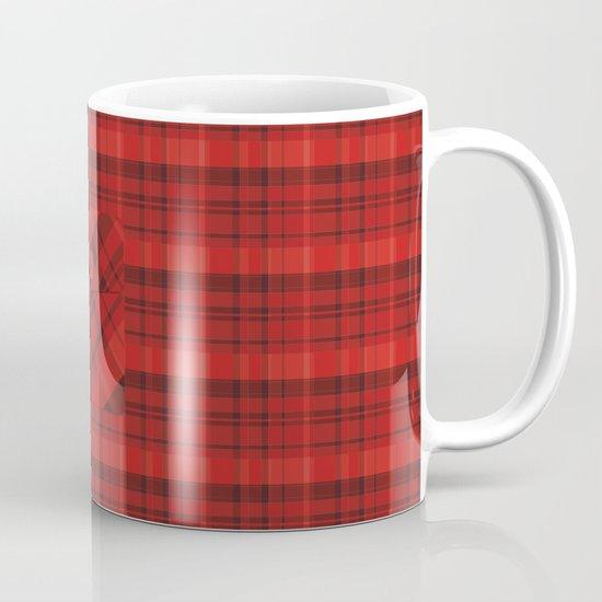 Plaid Pocket - Red Mug