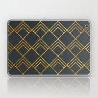 Diamond Art Deco; - Black & Gold  Laptop & iPad Skin