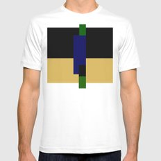 rectangle play SMALL White Mens Fitted Tee