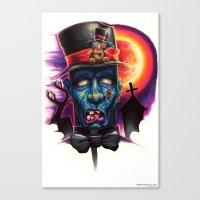 Zombie Bob Canvas Print