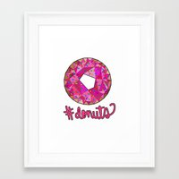 #donuts Framed Art Print