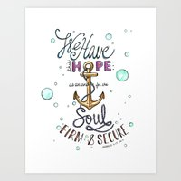 Hebrews 6:19 Art Print