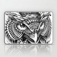Ornate Owl Head Laptop & iPad Skin