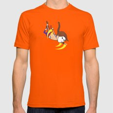 Flying Barcelona Attack Mens Fitted Tee Orange SMALL