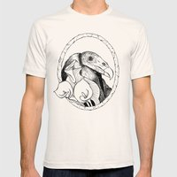 Mr. Vulture Mens Fitted Tee Natural SMALL