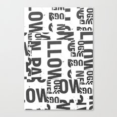 TYPE COLLAGE Canvas Print