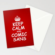 keep calm and comic sans. Stationery Cards