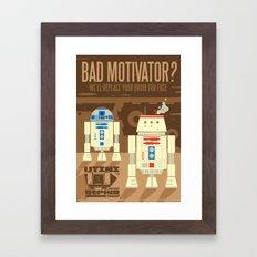 Droid repair shop Framed Art Print