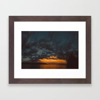 Opposite Sunset Framed Art Print