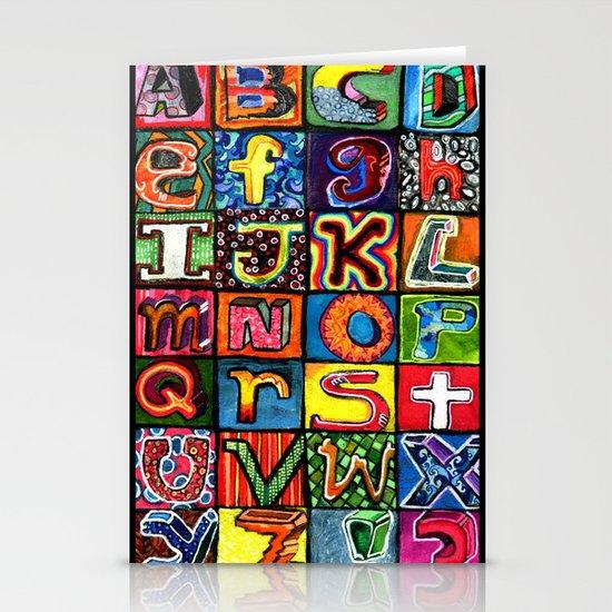 Alphabet Stationery Card
