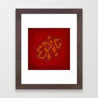 EPiC on red Framed Art Print