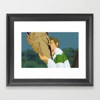 Deancas Spirited Away AU… Framed Art Print