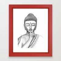 Shh... Do Not Disturb - … Framed Art Print