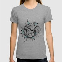 Little Fox  Womens Fitted Tee Tri-Grey SMALL