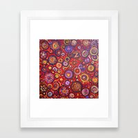 Red Square Abstract Painting Framed Art Print