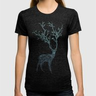 Blue Deer Womens Fitted Tee Tri-Black LARGE