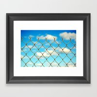 Boston Fence Framed Art Print