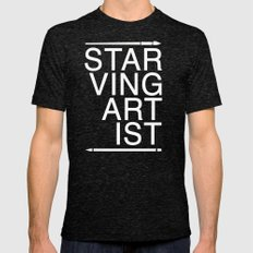 Starving Artist Mens Fitted Tee Tri-Black SMALL
