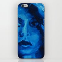 THE BLUE QUICK PORTRAIT iPhone & iPod Skin