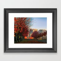 Autumn Ohio Country Road… Framed Art Print