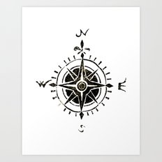 Compass - by Genu Art Print